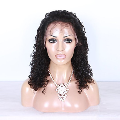 Echt haar Kanten Voorkant Pruik Kinky Curly 130% Dichtheid 100% handgebonden Afro-Amerikaanse pruik Natuurlijke haarlijn Kort Medium Lang