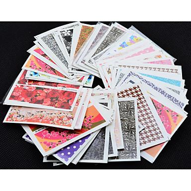 50 pcs 3D Negle Stickers Neglekunst Manikyr pedikyr Mote Daglig / 3D Nail Stickers