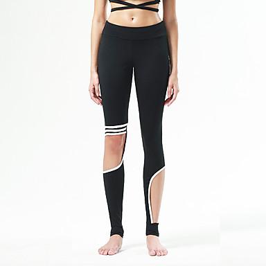 calças de yoga Meia-calça Respirável Secagem Rápida Redutor de Suor Confortável Natural Com Elástico Moda EsportivaAmarelo Branco Preto