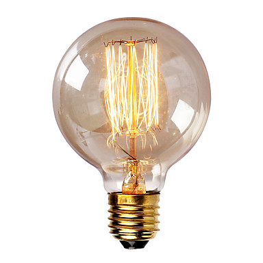 abordables Incandescent-1pc 40W E26 / E27 G80 Blanc Chaud 2300k Rétro Intensité Réglable Décorative Ampoule incandescente Edison Vintage 220-240V