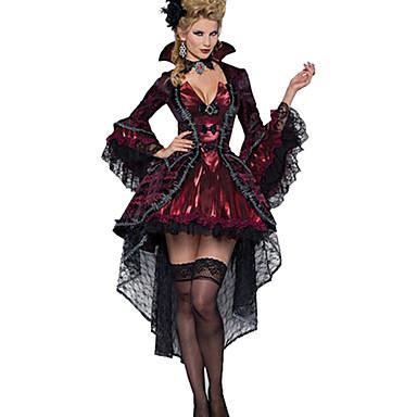 Cosplay Kostuums / Feestkostuum Vampieren Festival/Feestdagen Halloween Kostuums Rood Effen Kleding / Ketting Halloween VrouwelijkTextiel
