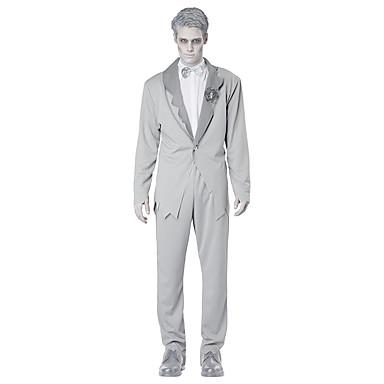 Cosplay Kostumer Festkostume Vampyr Festival/Højtider Halloween Kostumer Solid Frakke Top Bukser Mere Tilbehør Halloween Mand Terylene