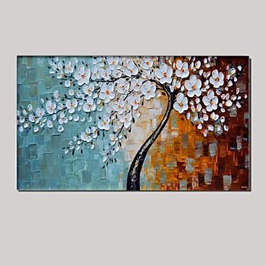Hang-geschilderd olieverfschilderij Handgeschilderde - Abstract / Bloemenmotief / Botanisch Klassiek / Pastoraal / Modern Kangas