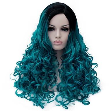 Synthetische Perücken Synthetische Haare Blau Damen Medium Capless Perücken / Halloween Perücke / Karnevalsperücke Kappenlos