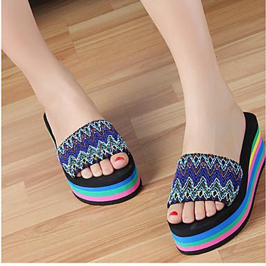 Sandaler-Polyester-Komfort-Damer-Rød Grøn-Fritid-Platå