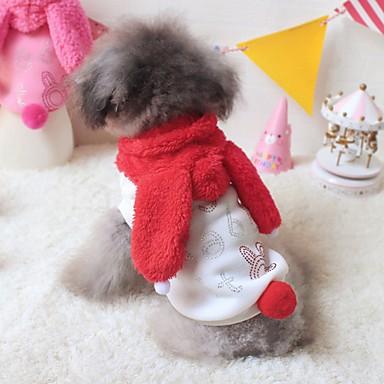 katten honden kostuums Hoodies Hondenkleding Winter Lente/Herfst Cartoon Schattig Cosplay Rood Roze
