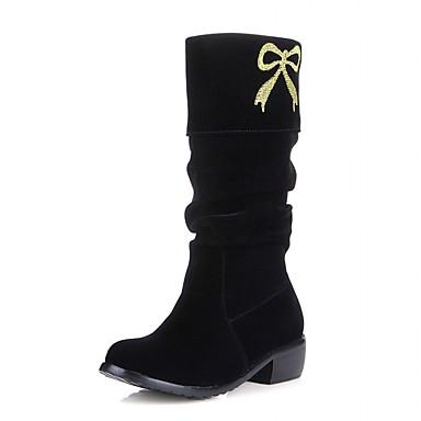 Støvler-laklæder Kunstlæder-Originale Cowboystøvler Snowboots Ridestøvler Modestøvler-Dame-Sort Brun Rød Beige-Bryllup Udendørs Kontor