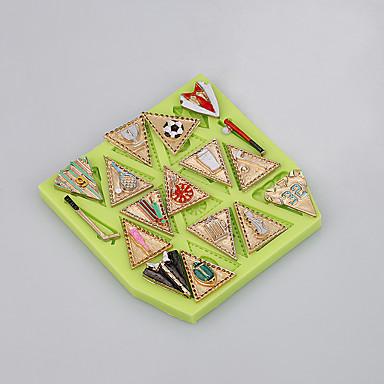 Molde de bolo de forma de bandeiras para molde de silicone de qualidade alimentar de ferramentas de decoração de fondant cor ramdon
