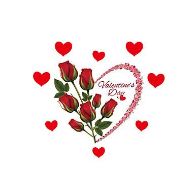Jul / Romantik / Blomster Wall Stickers Fly vægklistermærker Dekorative Mur Klistermærker / Bryllups klistermærker,PVC MaterialeVaskbar /