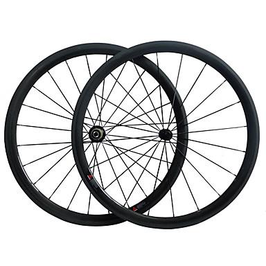 700CC Hjulsæt Cykling 23 mm Vejcykel Kulstof / Fuld carbon Livtag 16-32# Eger 38 mm