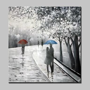 Pintura al óleo pintada a colgar Pintada a mano - Paisaje Modern Lona / Lona ajustada