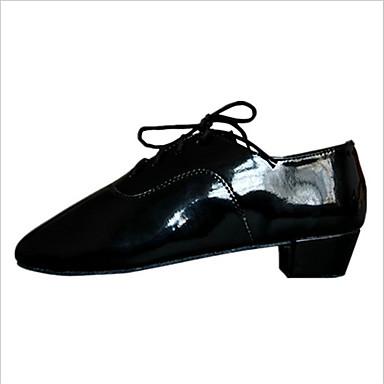 Niet aanpasbaar-Heren-Dance Schoenen(Zwart) - metBlokhak- enLatin