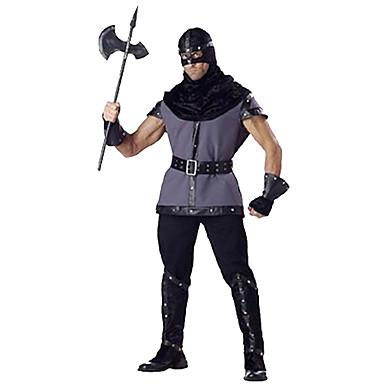 Soldat / Kriger Cosplay Kostumer Festkostume Herre Halloween Festival / Højtider Halloween Kostumer Sort Ensfarvet