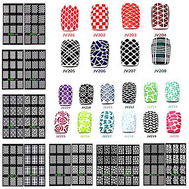1 pcs 3D Negle Stickers Neglekunst Manikyr pedikyr matte / Mote Daglig / 3D Nail Stickers