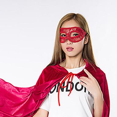 1pc máscara ms mascarada para o dia das bruxas traje do partido cor aleatória