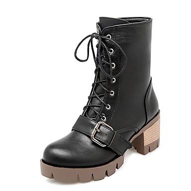 Støvler-laklæder Kunstlæder-Plateau Originale Cowboystøvler Snowboots Ridestøvler Modestøvler-Dame-Sort Gul Grå-Bryllup Kontor Formelt