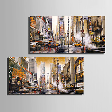 Paisagem Impressão em tela Dois Painéis Pronto para pendurar,Vertical
