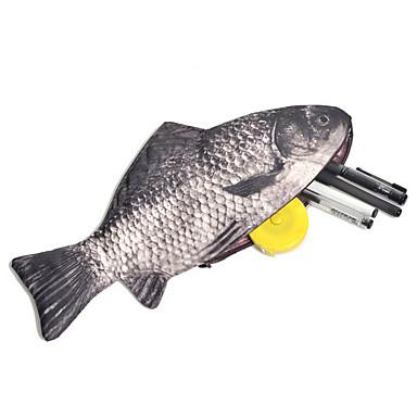 fisk design kreativ penalhus taske skole kontorartikler sød funny fødselsdagsgave