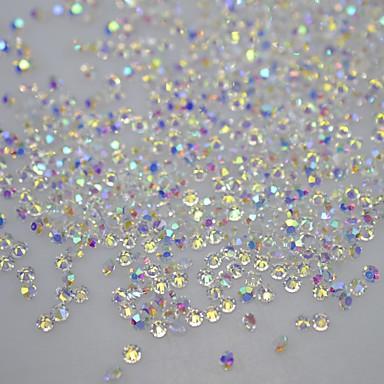 120pcs DIY vihjeitä kynnet glitter kiviä ei kuuma korjata 3d kynsikoristeet crystal nastat koristeet tarroja kynsien työkalut SS10 ab