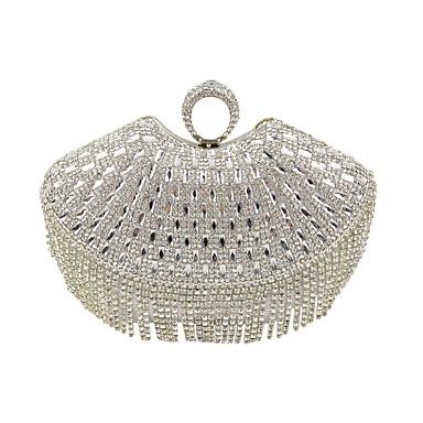Mulheres Bolsas material especial Bolsa de Festa Cristal / Strass Sólido Preto / Prata / Dourado / Sacolas de casamento / Sacolas de casamento
