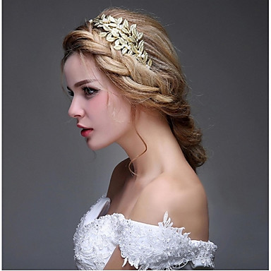 abordables Coiffes-Imitation de perle Alliage Serre-tête Fleurs barre Cheveux Accessoires pour Cheveux Casque