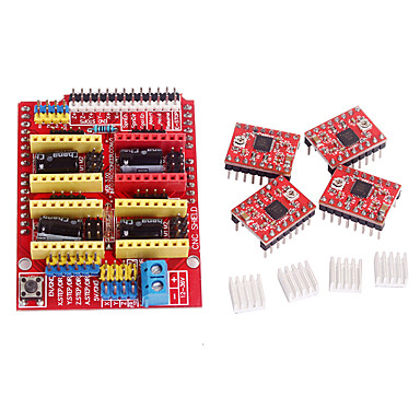 cnc escudo v3 motorista passo a4988 para rampas 1,4 impressora 3D RepRap