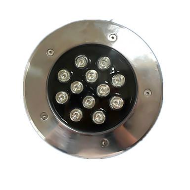(18ワットのオーダーに注意してください)屋外ラウンド地下に埋設ランプが点灯18ワット