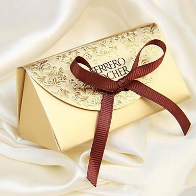 billige Gaveesker-kreativt kort papir favoriserer holder med favoriser bokser-12 bryllup favoriserer