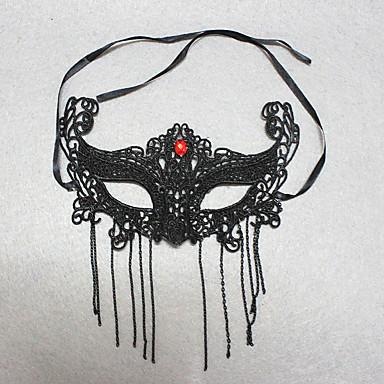 1pc halloween sexy blinddoek zwarte kanten masker ornamenten