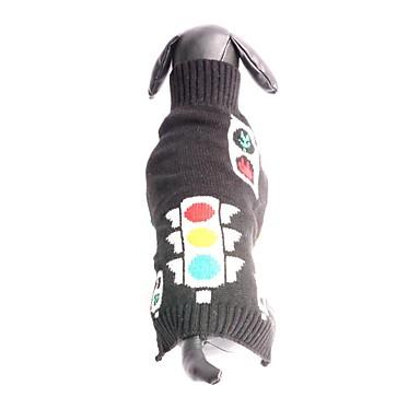 Kissa Koira Neulepaidat Koiran vaatteet Muoti Tukeva Musta Asu Lemmikit
