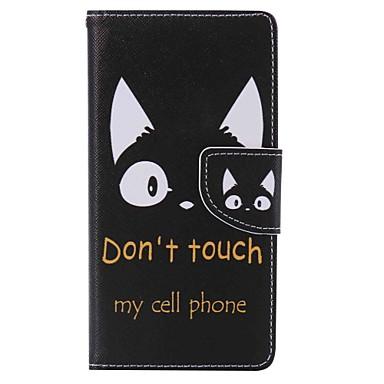 Capinha Para Sony Xperia M2 / Sony / Sony Xperia XA Carteira / Porta-Cartão / Com Suporte Capa Proteção Completa Gato Rígida PU Leather para Sony Xperia XA / Sony Xperia X Performance / Sony Xperia M5