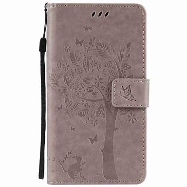 Etui Til Motorola Kortholder Lommebok med stativ Inngravert Heldekkende etui Tre Hard PU Leather til Moto Z Force Moto Z Moto X Play Moto