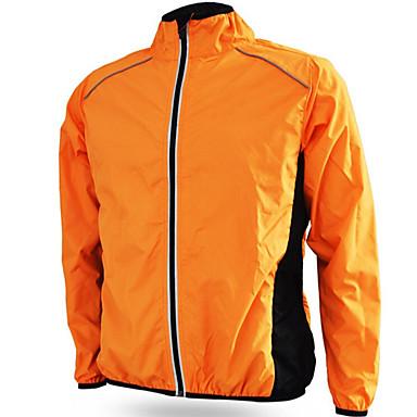 Jaqueta para Ciclismo Unisexo Moto Anoraques Jaqueta Prova-de-Água A Prova de Vento Á Prova-de-Chuva Filtro Solar Terylene Sólido Acampar