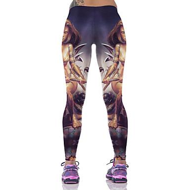 女性用 ランニングタイツ ベースレイヤー ジム用レギンス 高通気性 快適 ボトムズ のために ヨガ エクササイズ&フィットネス ランニング コットン スリム パープル