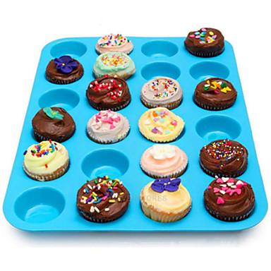 24 onkalo silikoni muffinssi cupcake cookie suklaa muotti pannulla pellille hometta satunnainen väri