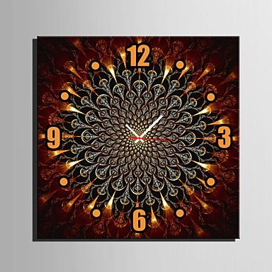 Quadrada Moderno/Contemporâneo Relógio de parede , Outros Tela40 x 40cm(16inchx16inch)x1pcs/ 50 x 50cm(20inchx20inch)x1pcs/ 60 x