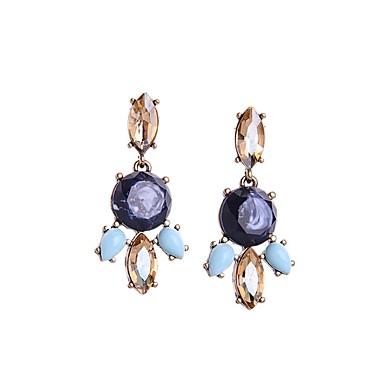 ドロップイヤリング 模造ダイヤモンド ファッション ボヘミアスタイル 欧風 合金 幾何学形 青銅色 ジュエリー のために パーティー 日常 カジュアル 1ペア