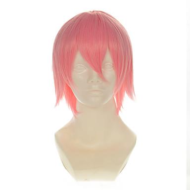 Pelucas sintéticas / Pelucas de Broma Recto Pelo sintético Peluca Mujer Sin Tapa Rosa