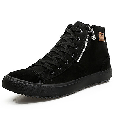 men's sneakers shoes suede high top shoes casual flat heel