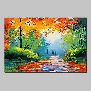 Dipinta a mano Paesaggi Orizzontale, Modern Tela Hang-Dipinto ad ...