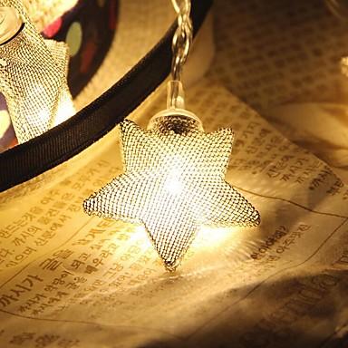 10-led 1.5m ster licht waterdicht plug outdoor vakantie decoratie licht geleid lichtslang