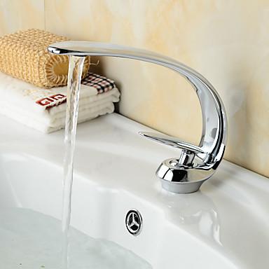Antiek Art Deco / Retro Landelijk Middenset Handdouche Waterherfst Wijdverspreid with  Keramische ventiel Single Handle twee gaten for