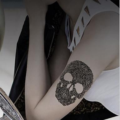 1 Tatuagem Adesiva Outros Non Toxic / Estampado / Halloween / Lombar / WaterproofFeminino / Masculino / Adulto / Menino / Adolescente