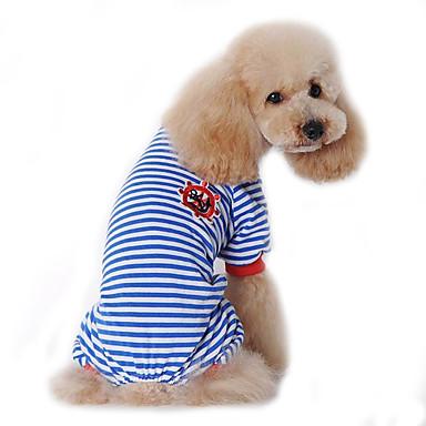 Hund Kjeledresser Pyjamas Hundeklær Matros Svart Rød Blå Bomull Kostume For kjæledyr Herre Dame Søtt Fritid/hverdag