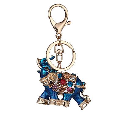Llavero Rojo / Azul Brillante, Chapado en Oro, Legierung Personalizado, Geométrico, Diseño Único Para