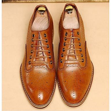 Miehet Oxford-kengät Comfort Nahka Kausaliteetti Comfort Musta Ruskea Tasapohja