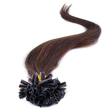 100% brasilianische remy Fusion Haarverlängerungen Kapseln Nagelspitze Haar seidige gerade Keratinschmelzverfahrens-u Haar extensions100s