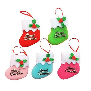 6kpl pieni saappaat roikkuu joulukuusi koriste joululomaa koristeet Christmas sukat (tyyli random)
