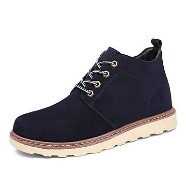 Miehet kengät Tekonahka Kevät Syksy Talvi Comfort Maiharit Bootsit Käyttötarkoitus Urheilullinen Kausaliteetti Musta Ruskea Sininen