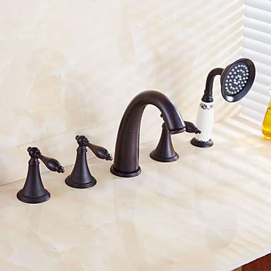 浴槽用水栓 - コンテンポラリー アンティーク アールデコ調 / レトロ風 アンティーク銅 バスタブとシャワー 真鍮バルブ